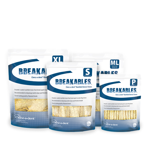 Breakables™ Clenz-a-dent® Rawhide Dental Chews Image